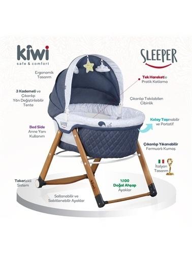 Kiwi Sleeper All İn One Sallanır Katlanır Ahşap Bebek Beşiği Mavi